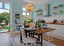 ダイニング,キッチン,窓,開放感,雰囲気,テラス,屋外家具